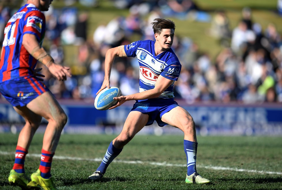 Lachlan Lewis in action for the Canterbury-Bankstown Bulldogs.