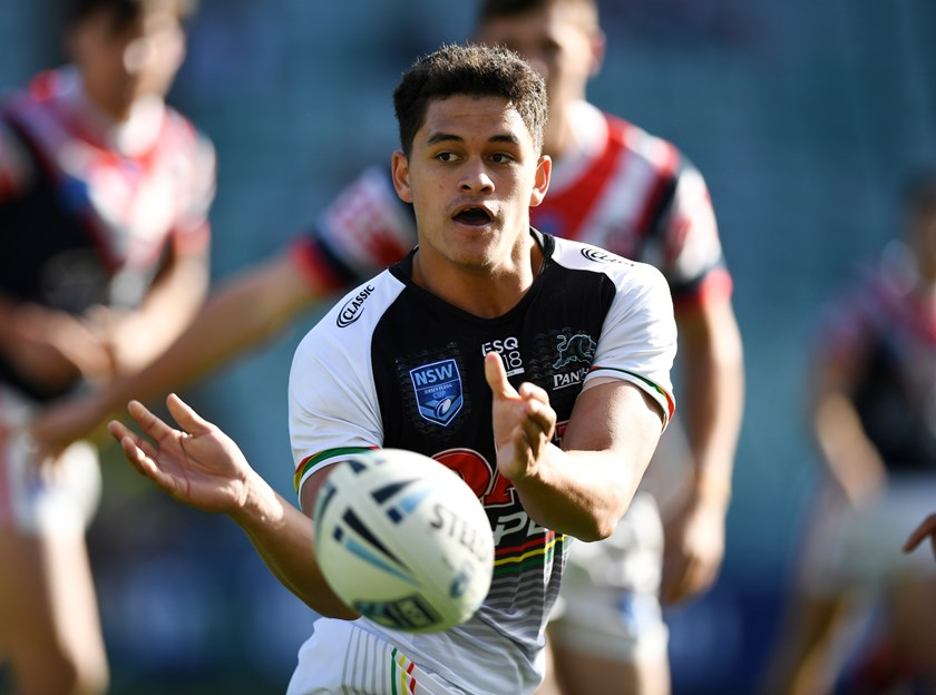 Dean Blore playing in the Jersey Flegg Cup. Photo: NRL Photos.