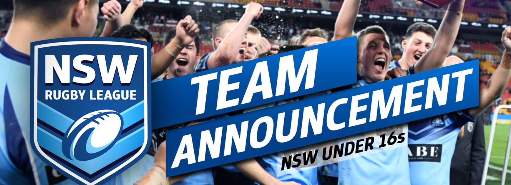 TEAM | NSW Under 16s