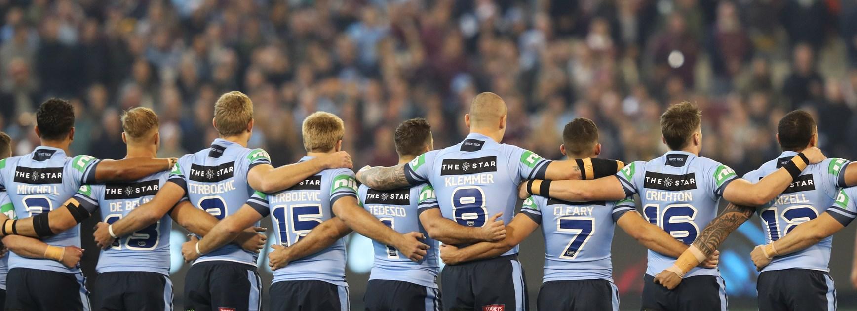 NSW Blues line up.