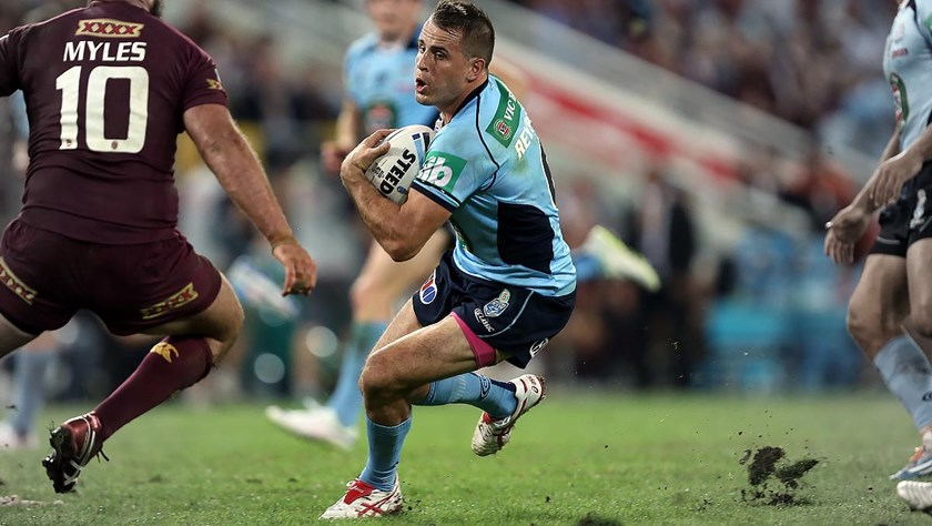 Josh Reynolds in action in the successful 2014 Holden State of Origin Series.