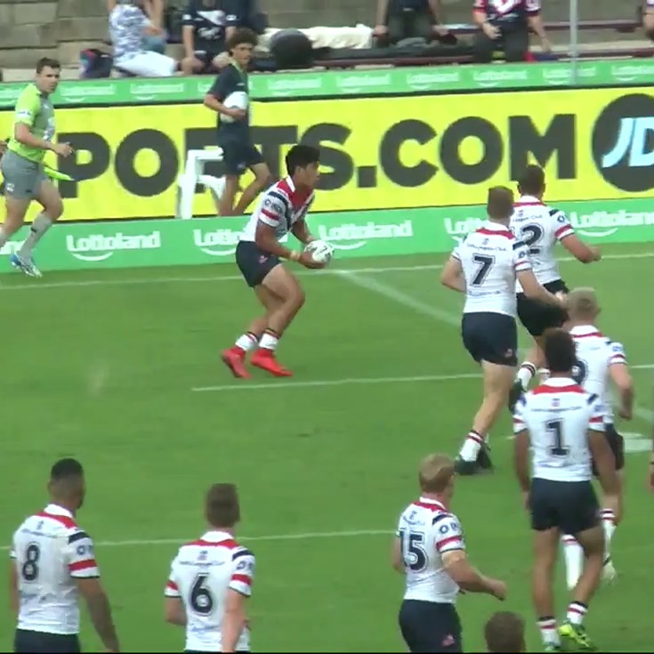 Roosters number three try