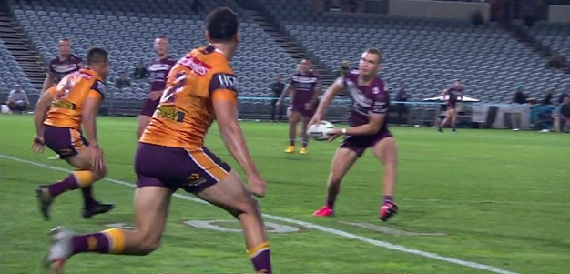 Perfect Tom Trbojevic pass gets Funa his first NRL try