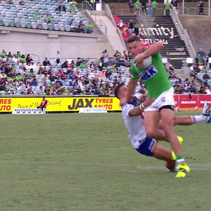 Wighton fends away from Nikorima