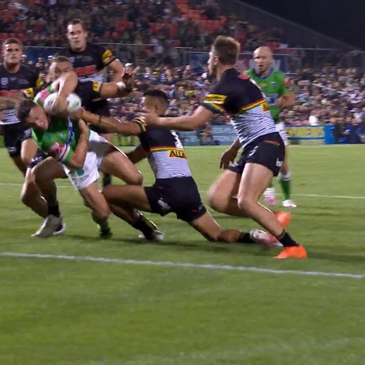 True Blue Jack Wighton is too big, too strong for the Panthers defence