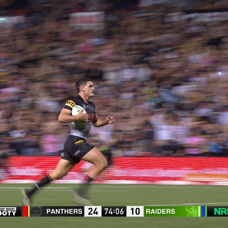 Nathan Cleary caps off a dominant win over the Raiders