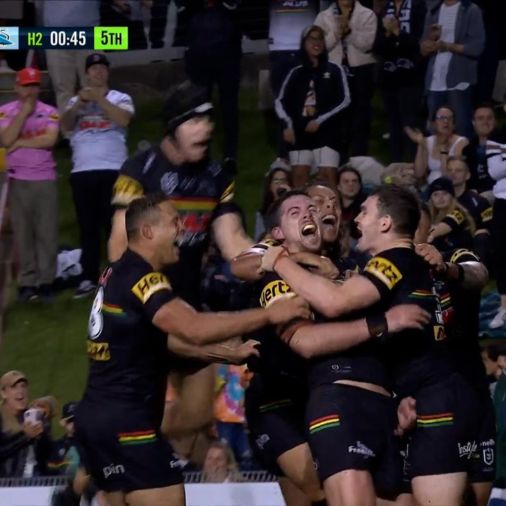 Cleary's grubber sets up Eisenhuth and Penrith go wild