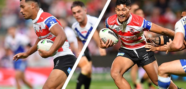 Talatau Amone and Mat Feagai on their dream debut for the Dragons