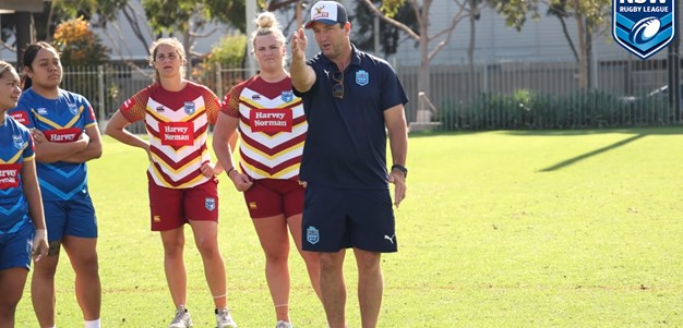 True Blues help coach women's Country City training session