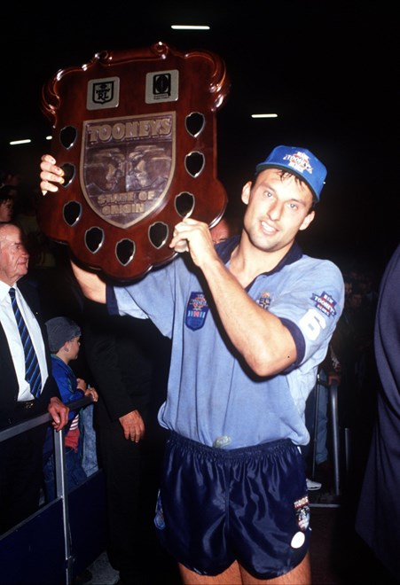 Laurie Daley - during the 1993 State of Origin. NSW won the series © Action Photographics