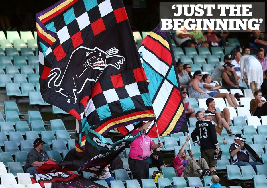 SYDNEY, AUSTRALIA - SEPTEMBER 28:  Panthers fans show their support during the VB NSW Cup Grand Final match between Newcastle and Penrith at Allianz Stadium on September 28, 2014 in Sydney, Australia.  (Photo by Renee McKay/Getty Images)