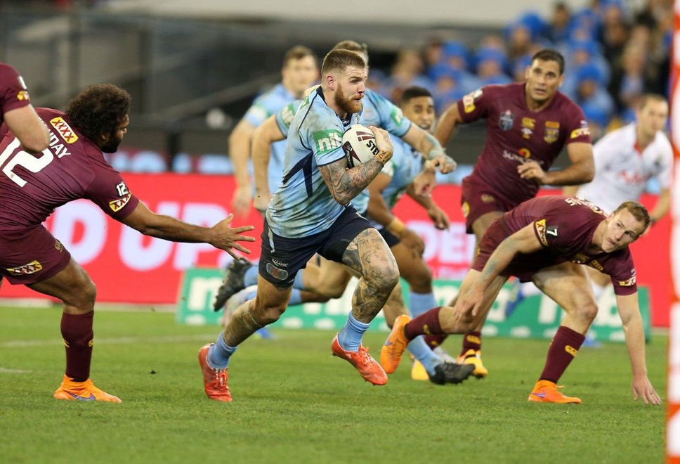 Josh Dugan   :Digital Image Grant Trouville © NRLphotos  : NRL Rugby League State of Origin - Game 2 at the Melbourne Cricket Ground MCG Wednesday the 17th June  2015.