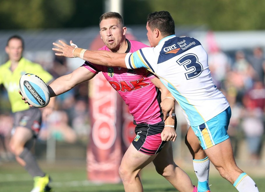 Bryce Cartwright  : Digital Image by Robb Cox ©nrlphotos.com:  :NRL Rugby League - Panthers Vs Titans at Carrigton Oval, Bathurst. Saturday March 14th 2015.
