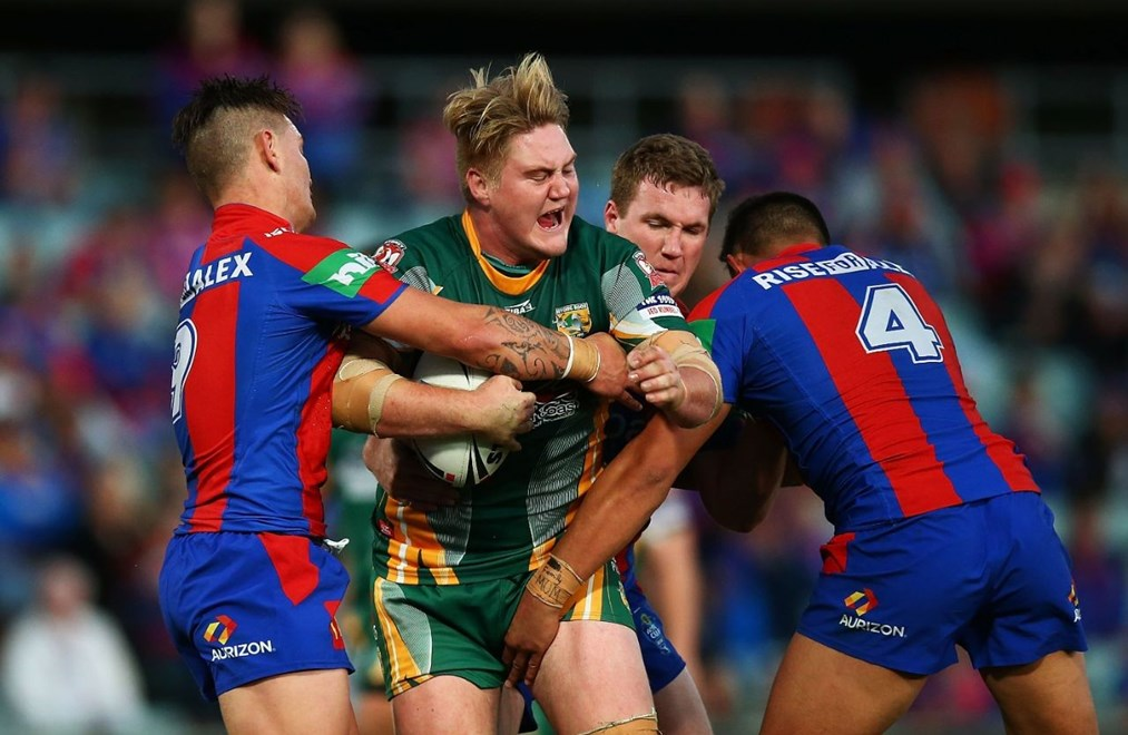 : NSWRL Grand Final day - VB NSW  Cup grand final match between the Wyong Roos and the Newcastle Knights at Pirtek Stadium on September 27, 2015 in Sydney, Australia. Digital Image by Mark Nolan.