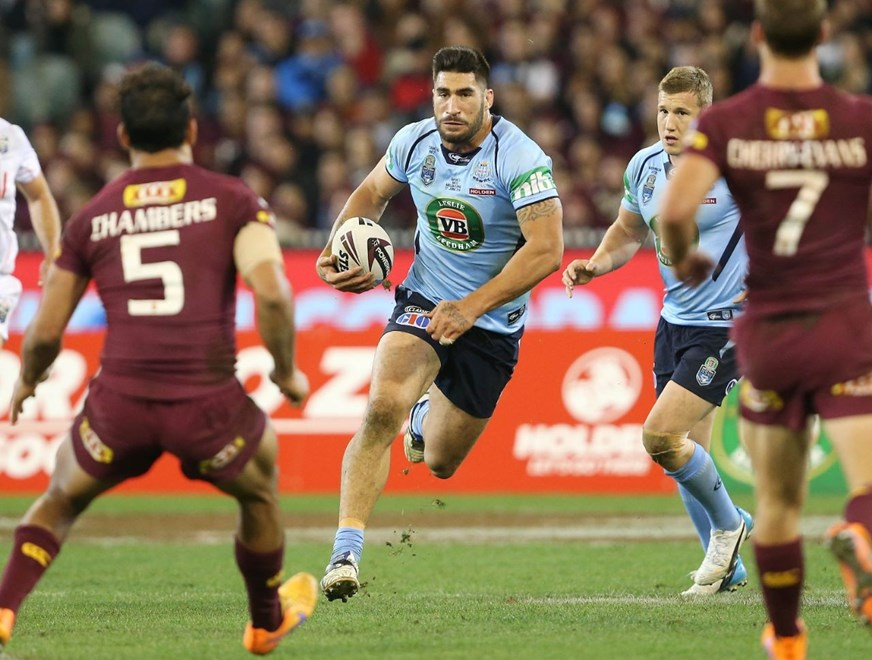 James Tamou : Pic by Robb Cox ©NRLPhotos.com:  :Representative Rugby League, State of Origin at the Melbourne Cricket Ground, Wednesday 17th June 2015.