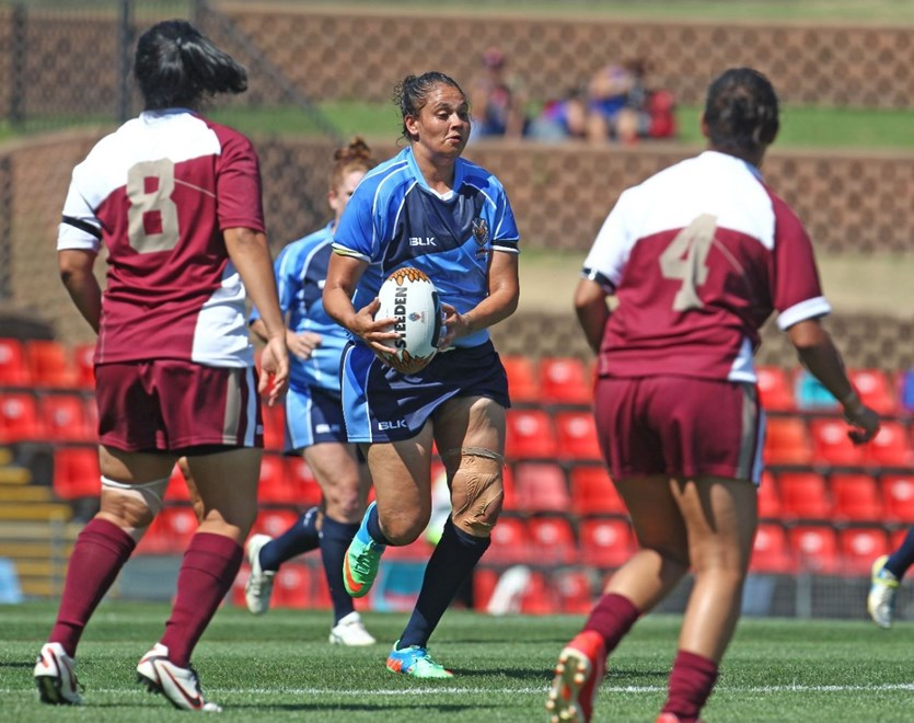:  Rugby League, Womens Rugby League, Indigenous Rugby League: NSW Women v Qld Women at Newcastle, Saturday February 8th 2014. Digital image by Colin Whelan © copyright nrlphotos.com
