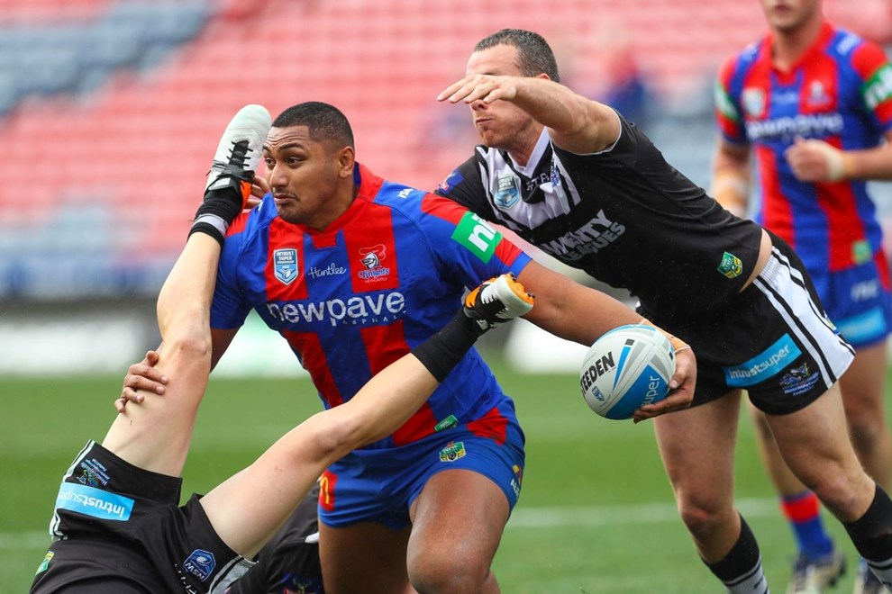 Competition - ISP Premiership Round. Round - Round 19. Teams - Newcastle Knights v Wenty Magpies. Date - 17th of July 2016. Venue - Hunter Stadium, Broadmeadow NSW. Photographer - Paul Barkley.