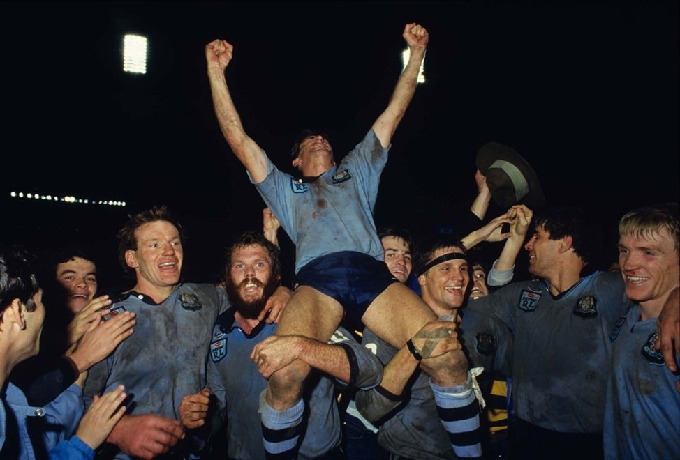 :Cant celeb     Representative Rugby League, State of Origin 1985. Photographed on colour transparency by Colin Whelan © Action Photographics