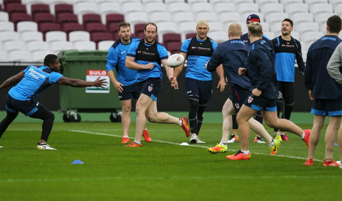 2016 International Rugby League, 4 Nations - ENGLAND Captains Run.