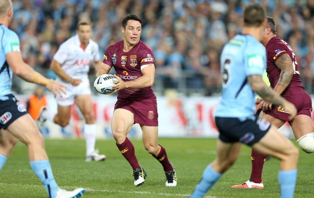 Cooper Cronk  :Digital Image Grant Trouville © NRLphotos  : 2015 State of Origin Game 1 - NSW v QLD at ANZ Stadium, Wednesday the 27th of MAY  2015.