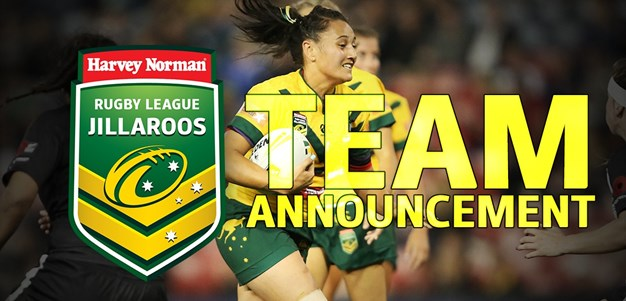 TEAM ANNOUNCEMENT | Australian Jillaroos