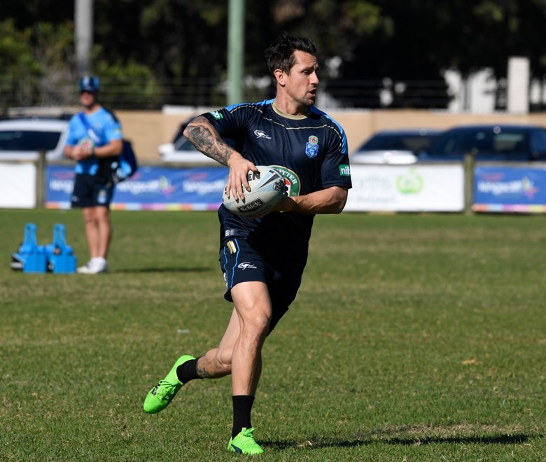 The NSW VB Blues hit the training paddock on Wednesday