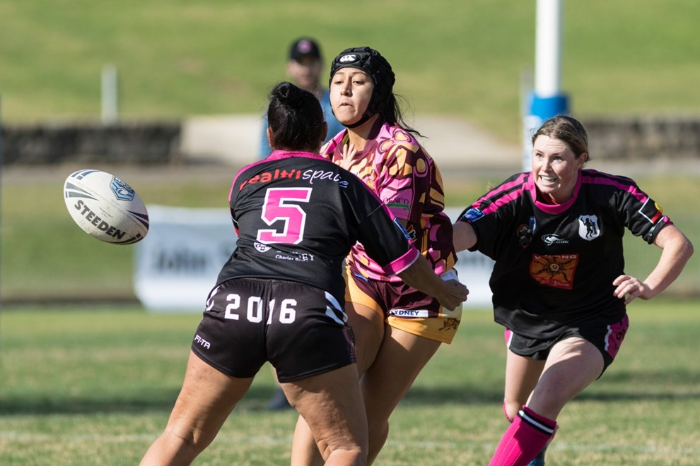 The Redfern All Blacks host the Glenmore Park Brumbies in Round 3 of the Harvey Norman NSW Women's Premiership. Image: Mario Facchini.