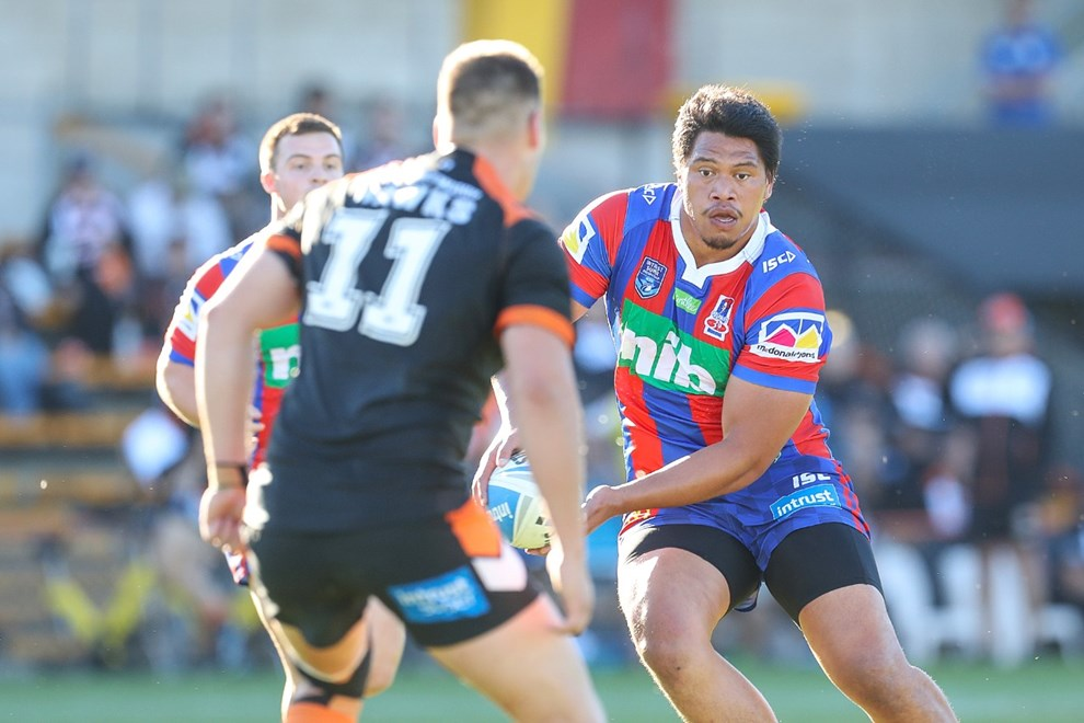 The Wests Tigers host the Newcastle Knights in Round 9 of the Intrust Super Premiership NSW. Image: NRL Photos.
