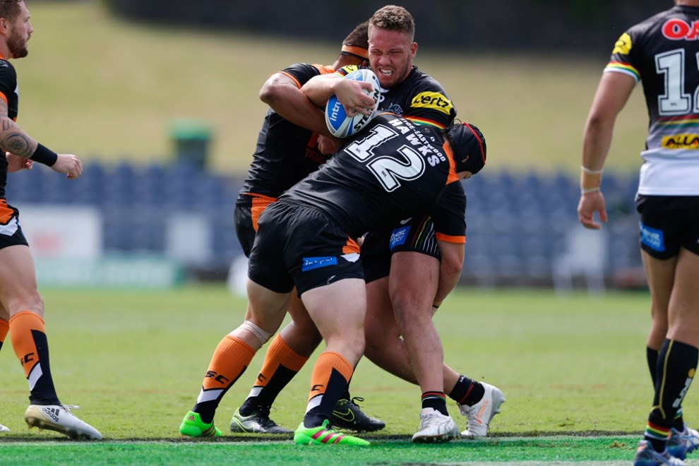 The Wests Tigers host the Penrith Panthers in Round 2 of the Intrust Super Premiership NSW. Image: IntoSportPhotography.