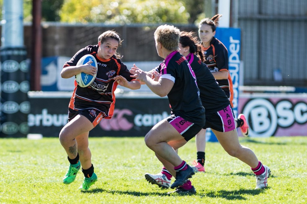 The Greenacre Tigers host the Redfern All Blacks in Round 12 of the Harvey Norman NSW Womens Premiership. Image: Mario Facchini.