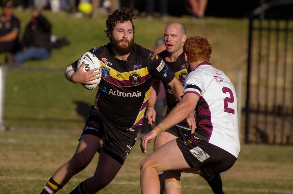 The Hills District Bulls host the Blacktown Workers Sea Eagles in Round 24 of the Ron Massey Cup. Image: David Napper.