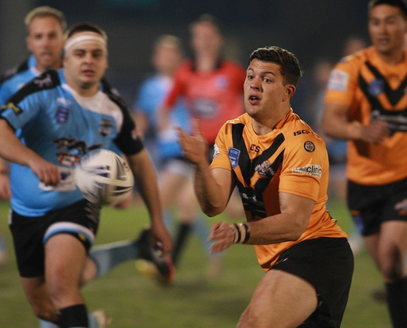 The TAFE Polecats take on the UTS Balmain Tigers in the 2017 Division 1 Tertiary Students Rugby League Grand Final. Image: Terry Liberopoulos.