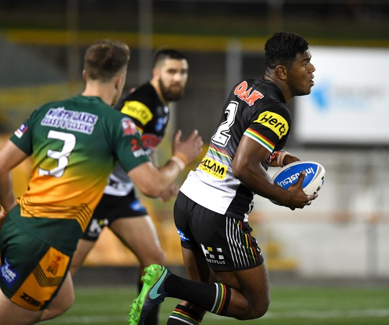 The Wyong Roos clash with the Penrith Panthers in the 2017 Intrust Super Premiership NSW Grand Final. Image: NRL Photos.