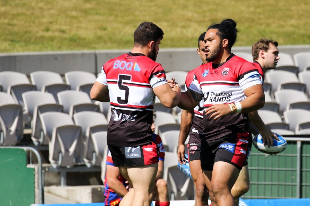 The North Sydney Bears take on the Newcastle Knights in the opening week of the Intrust Super Premiership NSW Finals Series. Image: Steve Little.