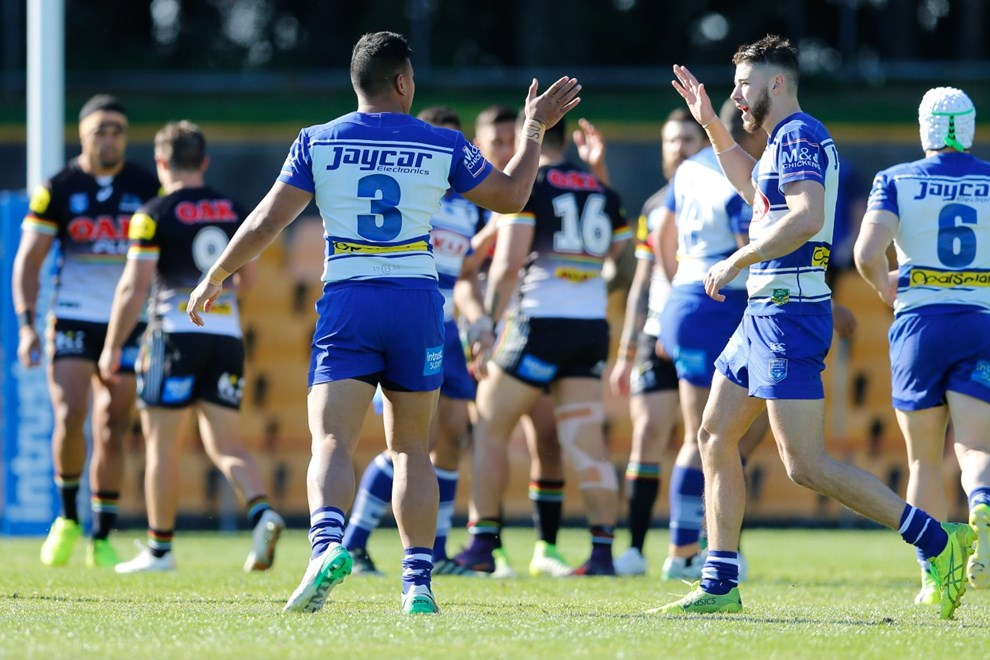 The Penrith Panthers take on the Canterbury-Bankstown Bulldogs in the third week of the Intrust Super Premiership NSW Finals Series. Image: Kevin Manning.