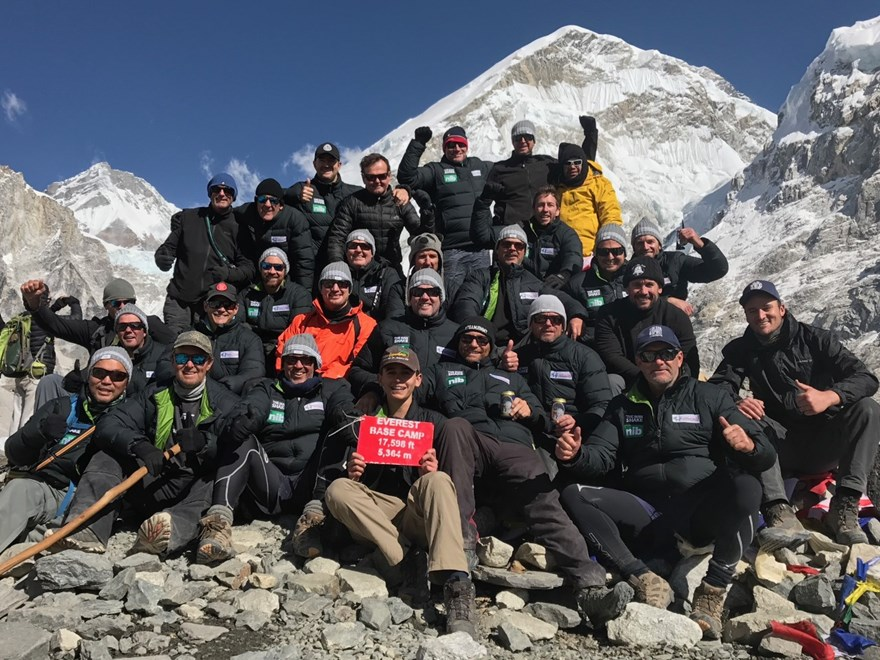 Former NRL stars climb Mount Everest, Nepal, to raise funds for the Mark Hughes Foundation (Image: Supplied)