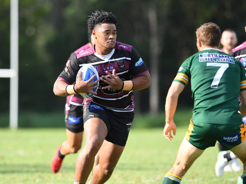 Moses Suli in action for the Blacktown Workers Sea Eagles.
