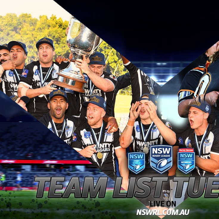 Team List Tuesday | NSWRL Major Comps Grand Finals
