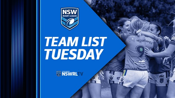 Team List Tuesday | Junior Reps Round 5