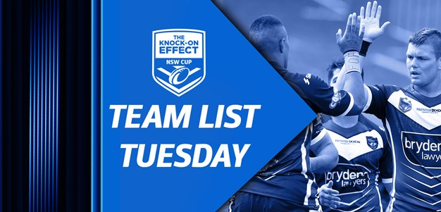 Team Lists | The Knock-On Effect NSW Cup Rd 3