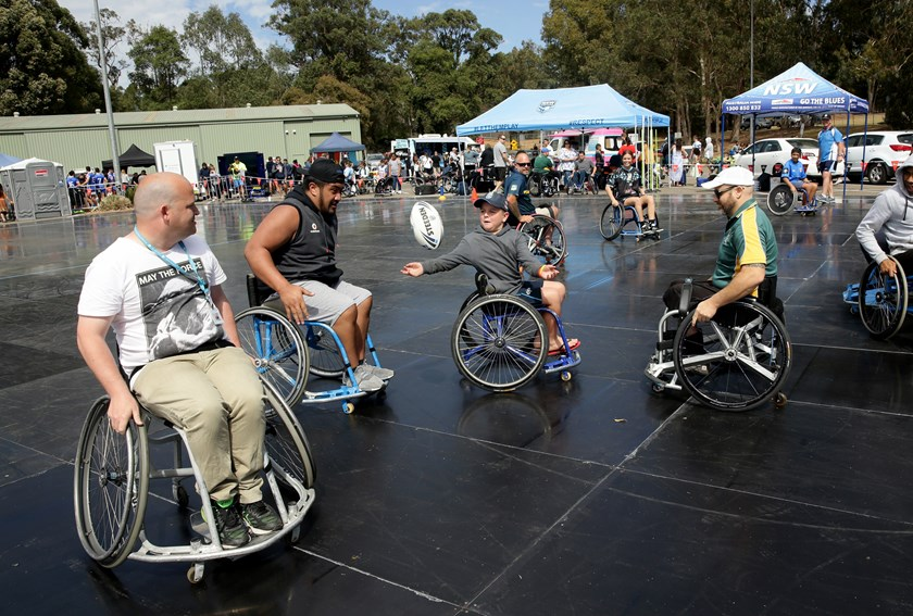 Wheelchair Rugby League is played at the 2017 Blue Harmony Cup.
