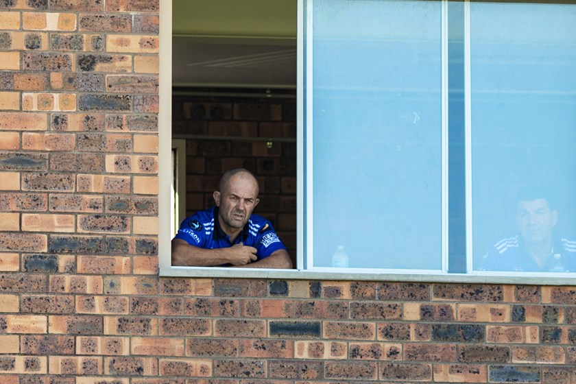 Greg Matterson watches the Newtown Jets from the coaches' box at Henson Park.