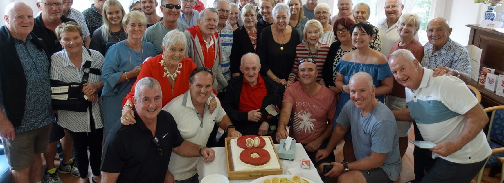 'Chook' Raper's emotional speech for 80th Birthday