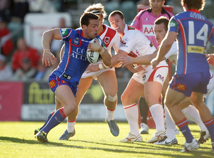 Ryan Stig in action for the Newcastle Knights in his man-of-the-match performance in 2011.