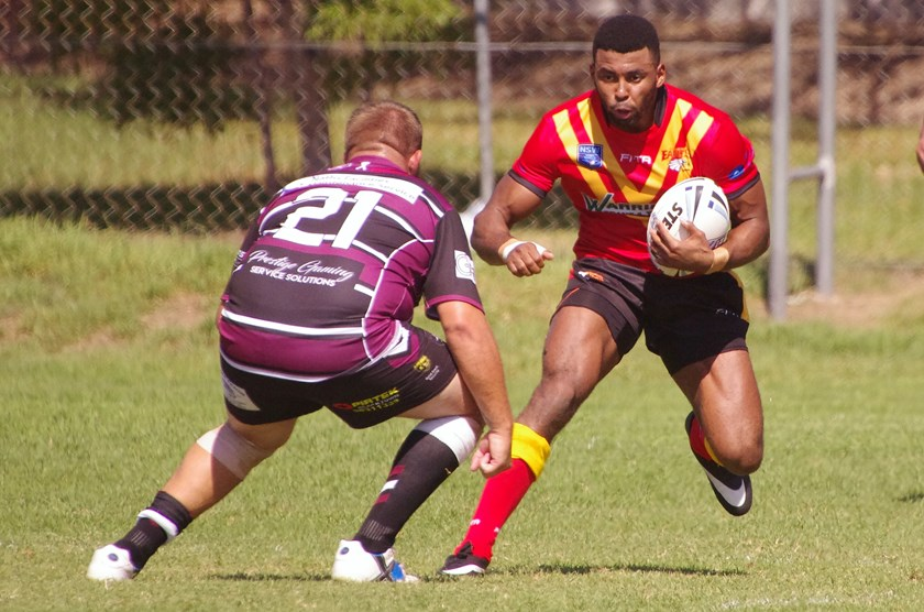 James Morgan playing for the Belrose Eagles in the Sydney Shield.