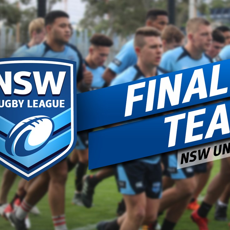 FINAL TEAMS | Under-18 Origin