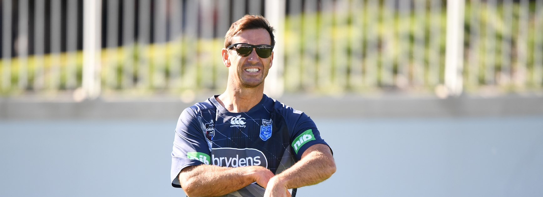 Eighth Immortal Andrew Johns at Brydens Lawyers NSW Blues training.