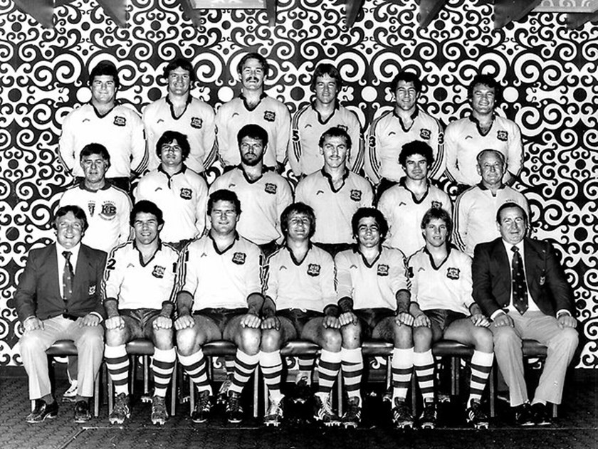 The NSW team named for the first State of Origin game in 1980, captained by Tom Raudonikis.
